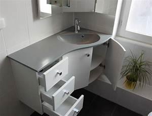 Meuble D39Angle Pour Une Petite Salle De Bain Atlantic Bain
