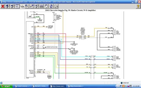 2003 Chevrolet Wiring Diagram Stereo by I Need A Stereo Wiring Diagram For A 2003 Chevy Impala