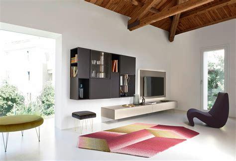 wohnzimmer design wohnwand stauraum schaffen mit ideen bei