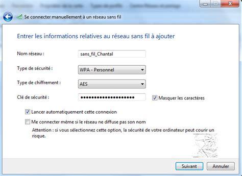 comment connecter un ordinateur de bureau en wifi configurer un réseau wifi sous windows 7 windows 10