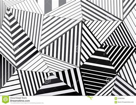 black and white graphic design background of black and white striped triangles for