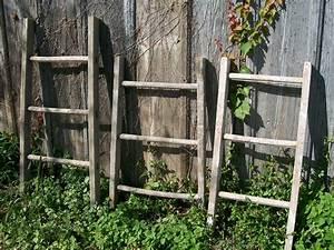 Rustic, Vintage, 3, Rung, Wooden, Ladder