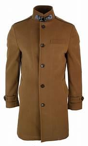 Décontracté Chic : veste longue manteau 3 4 col mao montant d contract chic hiver homme ebay ~ Melissatoandfro.com Idées de Décoration