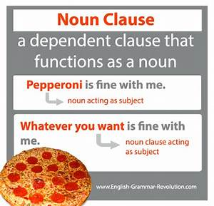 Noun Clauses Are Subordinate Clauses