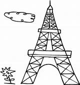 Eiffel Tower Coloring Drawing French Outline Cartoon Paris Colouring Printable Clipartmag Getdrawings Sheets Template sketch template