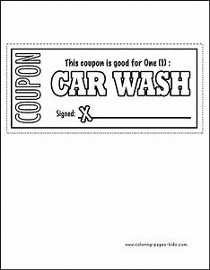 father39s day color page coloring pages for kids With car wash coupon template