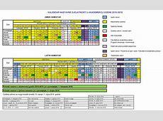 Kalendar rada i nastavnih aktivnosti 20182019