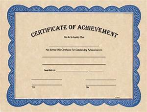 Make A Gift Certificate Free Blank Certificate Of Achievement Award Certificates From