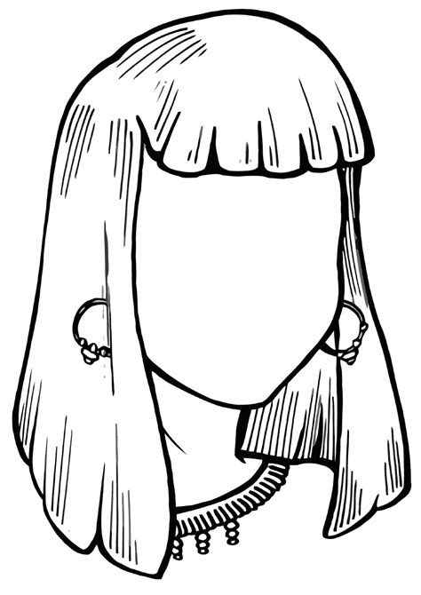 hairstyle coloring pages    print