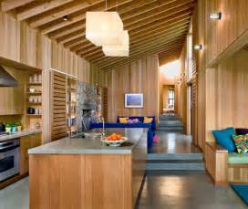 wood interior design in house architecture world