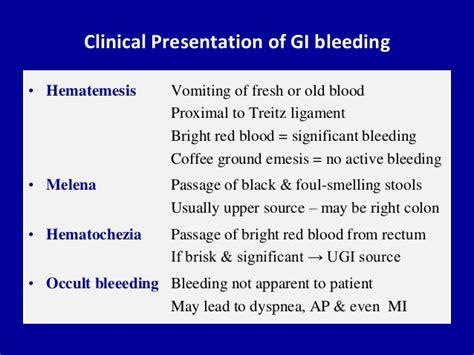 Approach To Gastrointestinal Bleeding