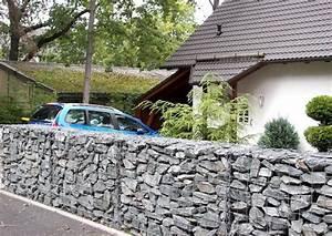 gabionen zaungabionen als sichtschutz und larmschutz With französischer balkon mit sicht und lärmschutz garten
