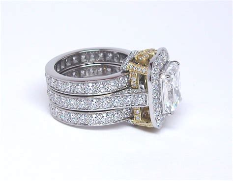 engagement ring with eternity bands exclusive jewelry designs