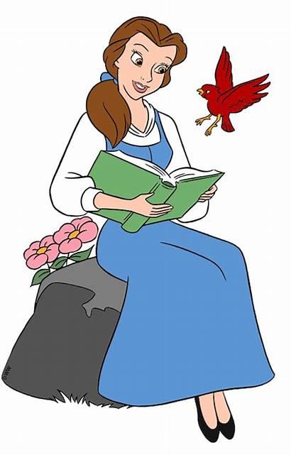 Disney Clipart Belle Clip Reading Princess Beast