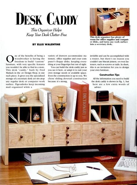 american woodworker desk caddy   issues