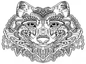 Wolf Mandala Coloring Pages Adult