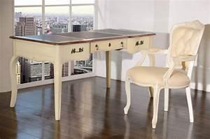 Schreibtisch Vintage Weiß : schreibtisch vintage wei massiv holz antik shabby chic ~ Lateststills.com Haus und Dekorationen