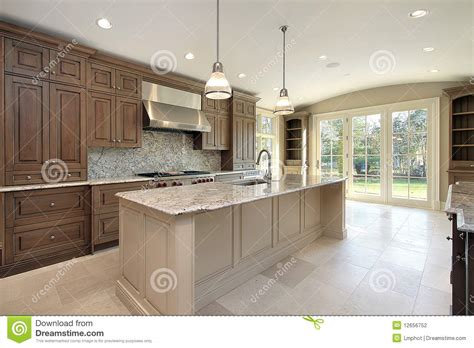 marble island kitchen kitchen with large marble island stock photography image 4005