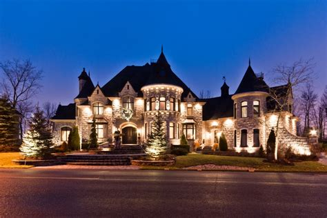 million castle inspired home  quebec canada homes   rich