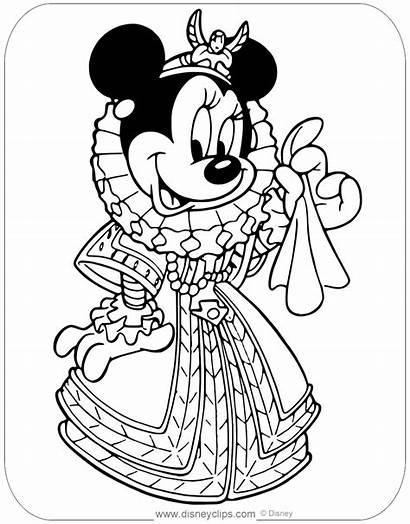 Minnie Coloring Mouse Pages Queen Disneyclips Pdf