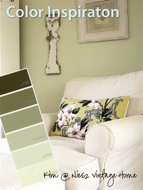 paint colors for the and light green walls on