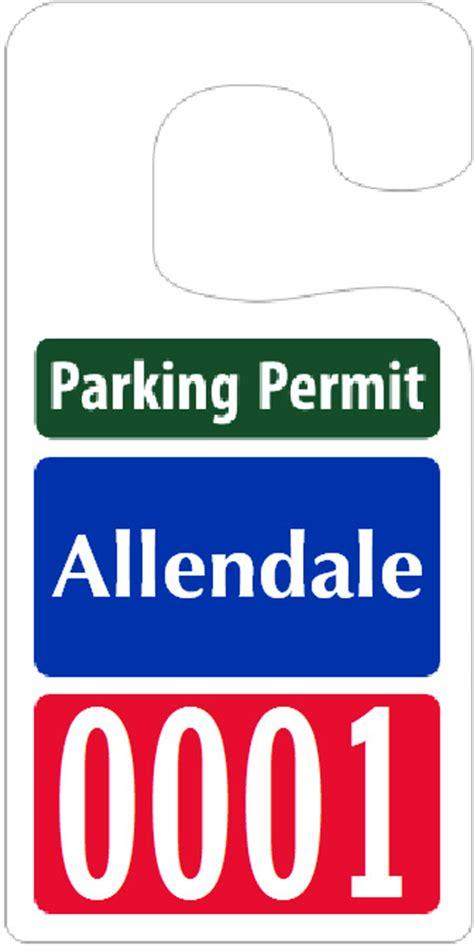 Big Foot Parking Permits  Jumbo Size Hang Tags