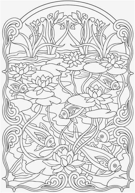 koi fish coloring pages anti stress coloring  adult