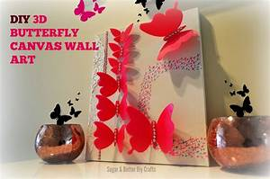 Diy room decor d butterflies wall canvas perfect for
