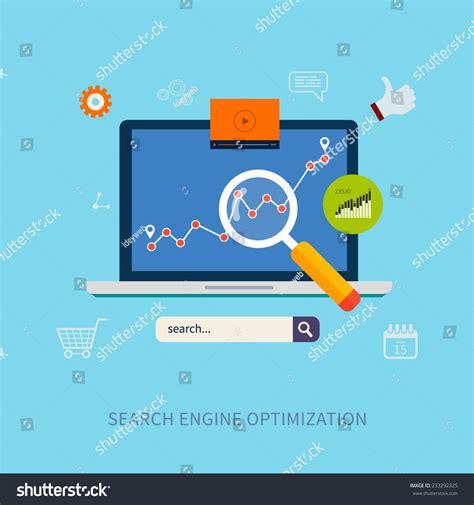 Web Search Engine Optimization - set flat design vector illustration concepts stock vector
