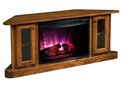 cascadia corner electric fireplace  tv stand