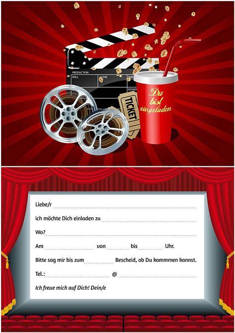 einladung kindergeburtstag kino ausdrucken kostenlos