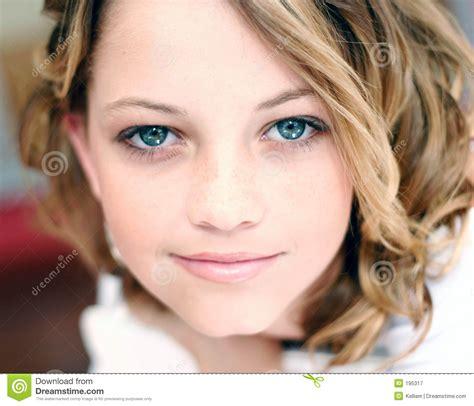 Model Close Up Stock Image Image Of Female Woman Blue