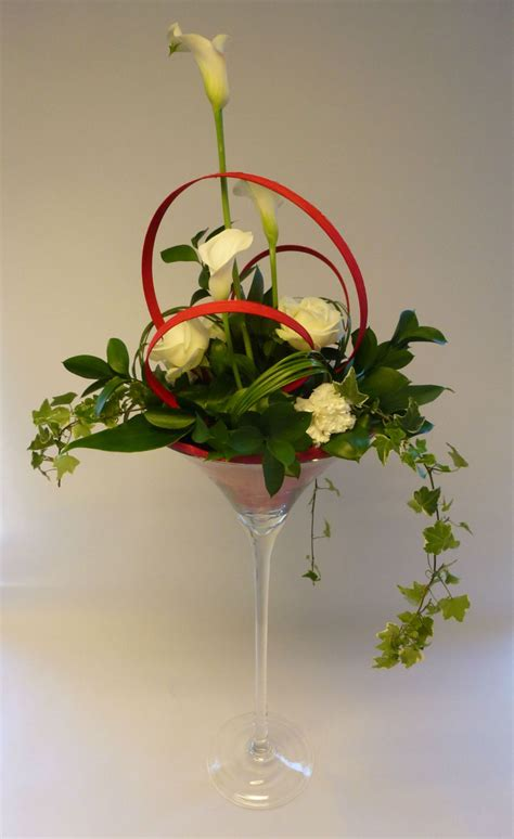 decoration de table en vase martini decoration de table