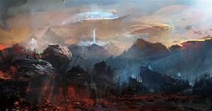 Artwork, Fantasy, Art, Concept, Art, Planet, Futuristic, Warrior, City, Starcraft, Ii, Dark, Templar