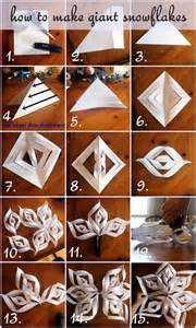 how to make giant paper snowflakes step by step photo tutorial christmas decorations