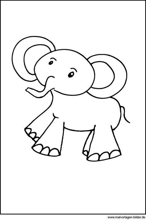 malvorlagen fuer  jaehrige der elefant