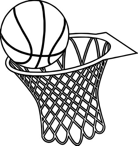 basketball goal coloring pages  getcoloringscom
