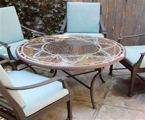 mosaic patio tables tile patio tables heat n sweep