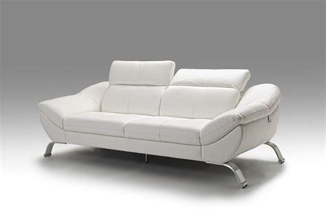 canapé cuir italien 3 places meuble canap en cuir blanc italien pour salon design