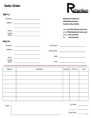 16545 sle order form sales order format pdf templates fillable printable