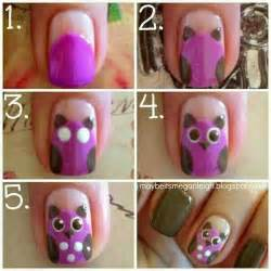 Owl nail art tutorial cute step by nails