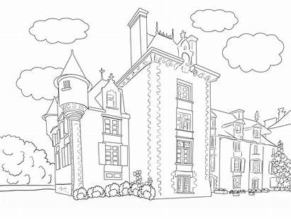 Colouring Scenery Pages Coloring Adult Landscape Printable