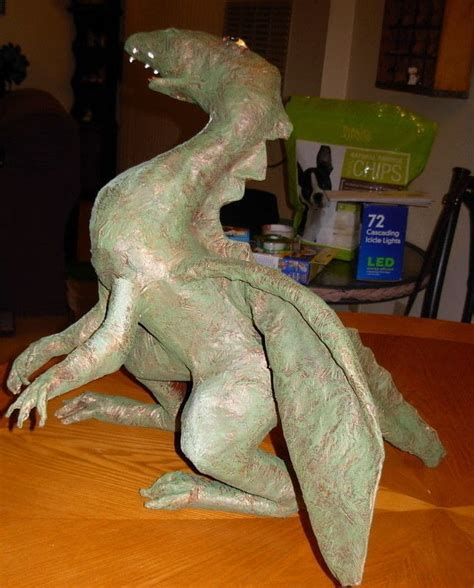 papier mache dragon  paper model papier mache  cut