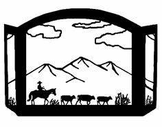Cattle Drive Clipart 12138