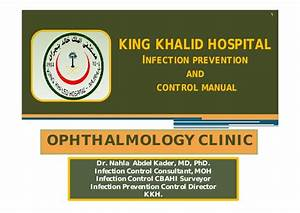 Infection Control Guidelines for Ophthalmology Clinic ...