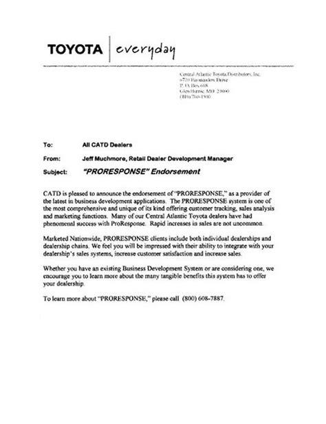 ProResponse.com   Automotive CRM   Email Follow-up Letters