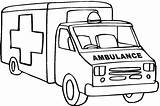 Ambulance Coloring Pages Printable Clipart Truck Drawing Outline Cartoon Fire Cliparts Sketch Template Sound Dodge Lifted Webstockreview Cars Angel Getcolorings sketch template