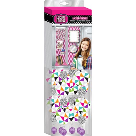 locker decorations at walmart locker lounge kaleidoscope with silver foil accent curtain