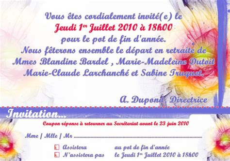 mail invitation pot de depart mail invitation pot de depart 28 images 11 invitation pot de d 233 part modele de facture