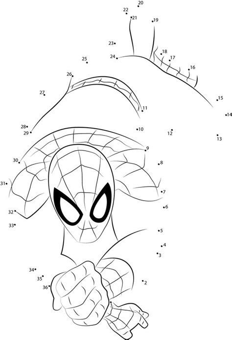 relier les points spider man imprimable gratuit pour